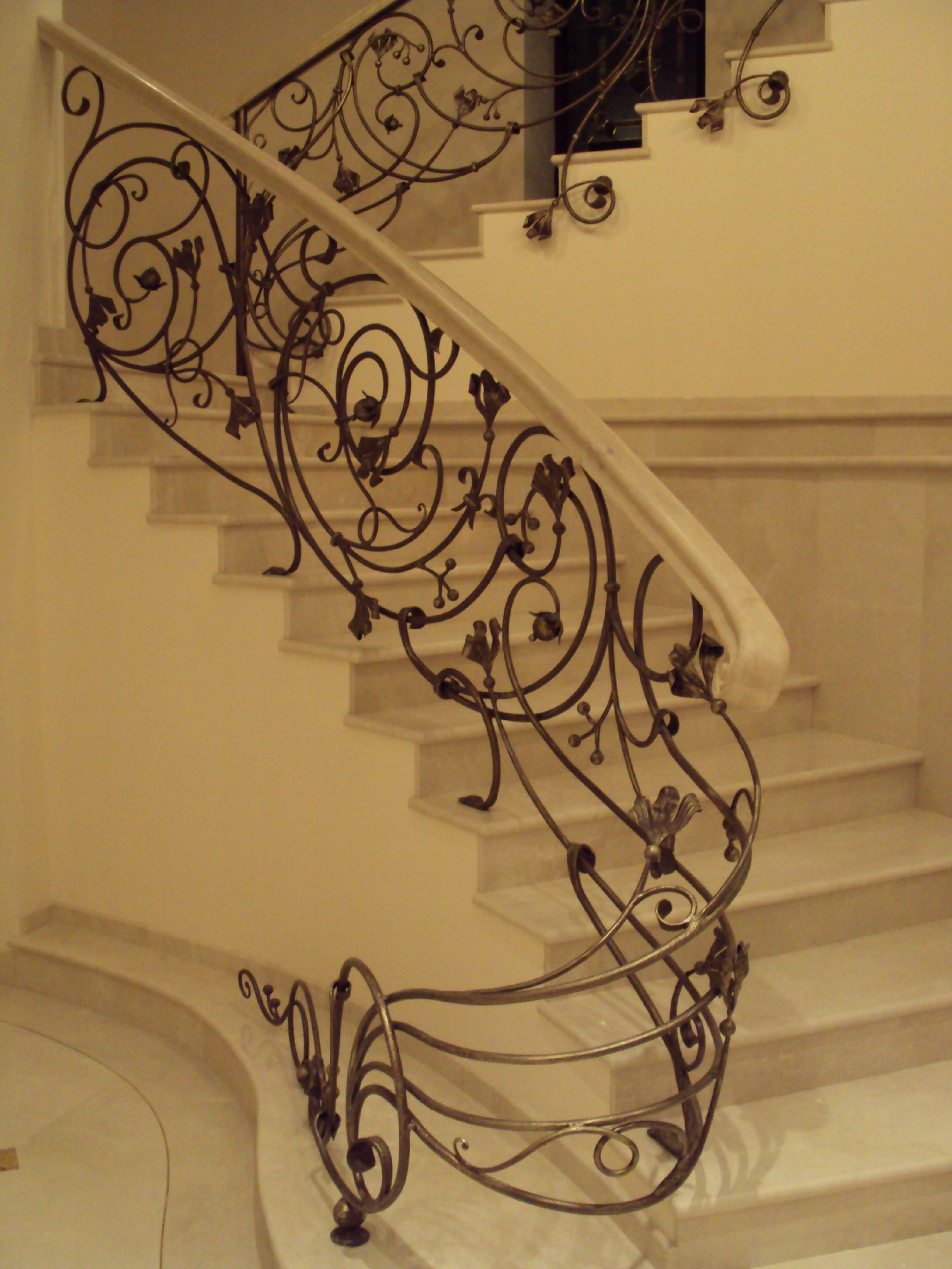 Кованые перила для лестницы Артикул № 001