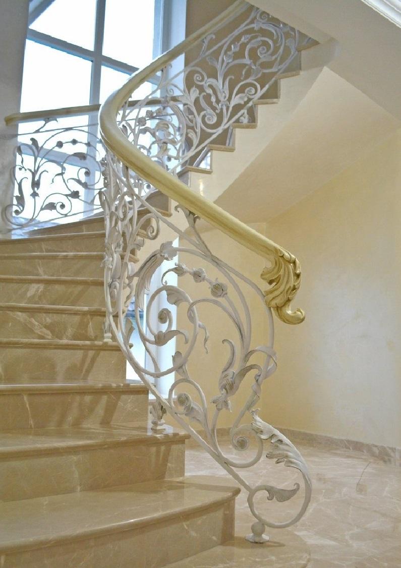 Кованые перила для лестницы Артикул № 011