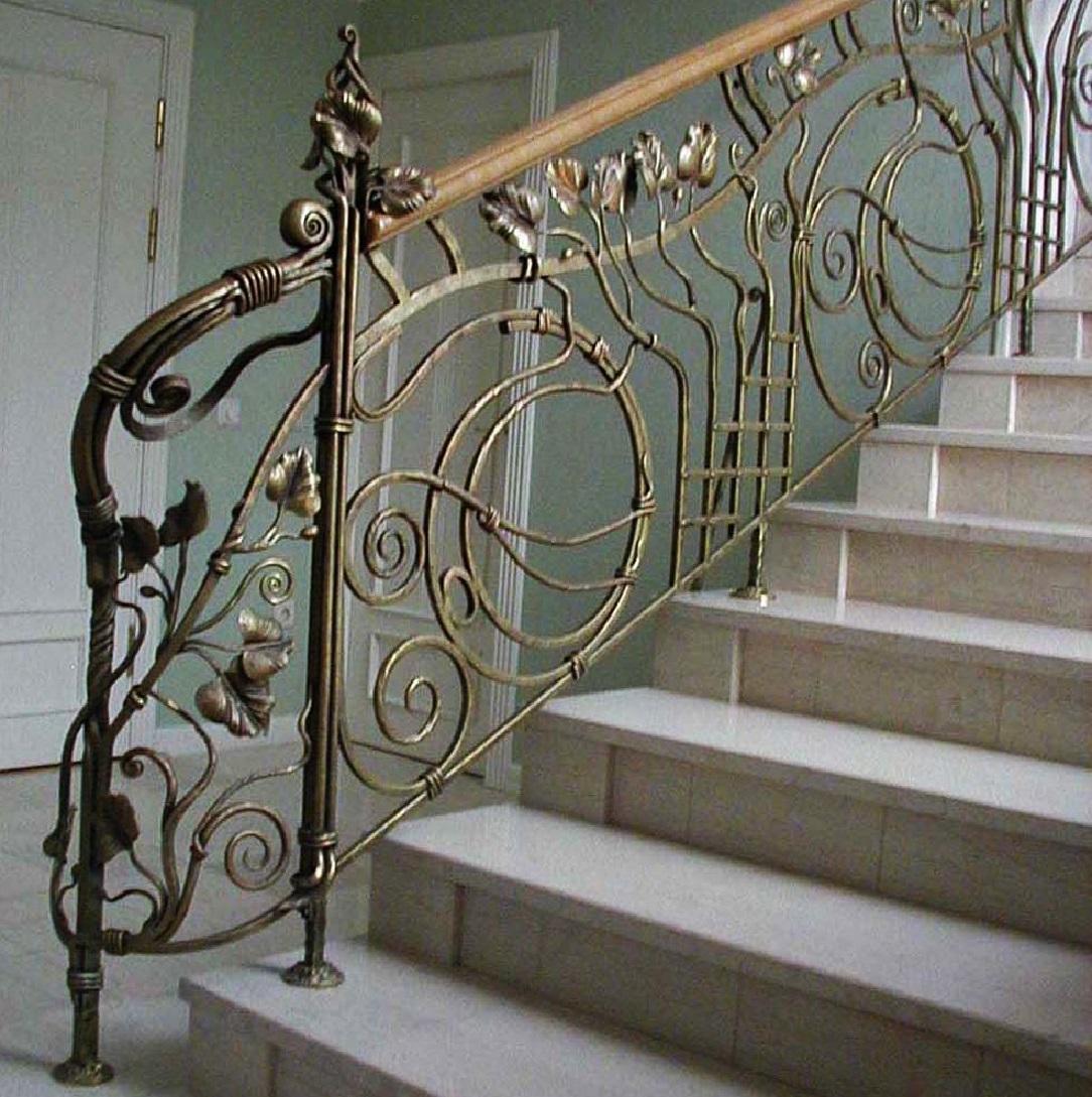 Кованые перила для лестницы Артикул № 017