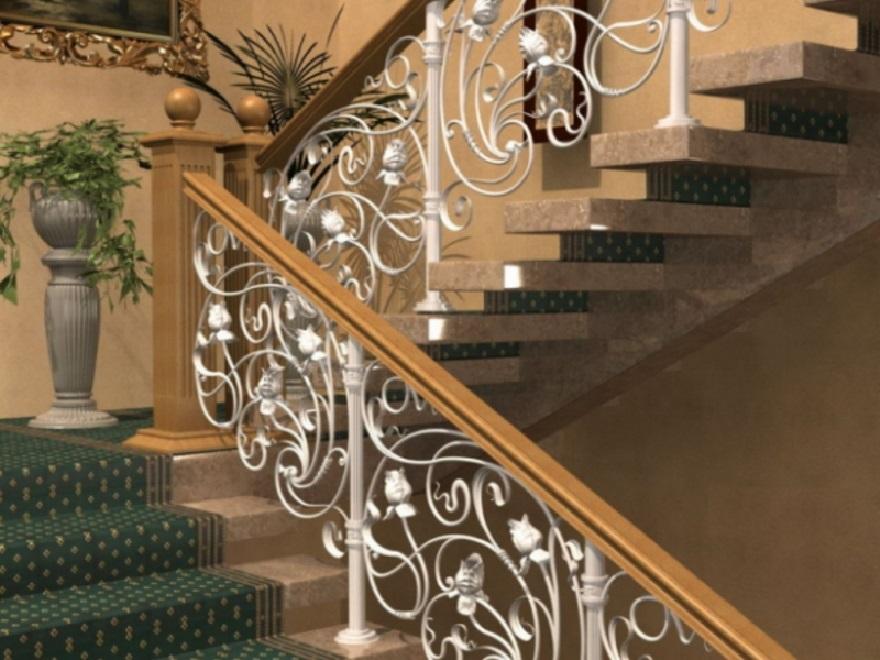 Кованые перила для лестницы Артикул № 019