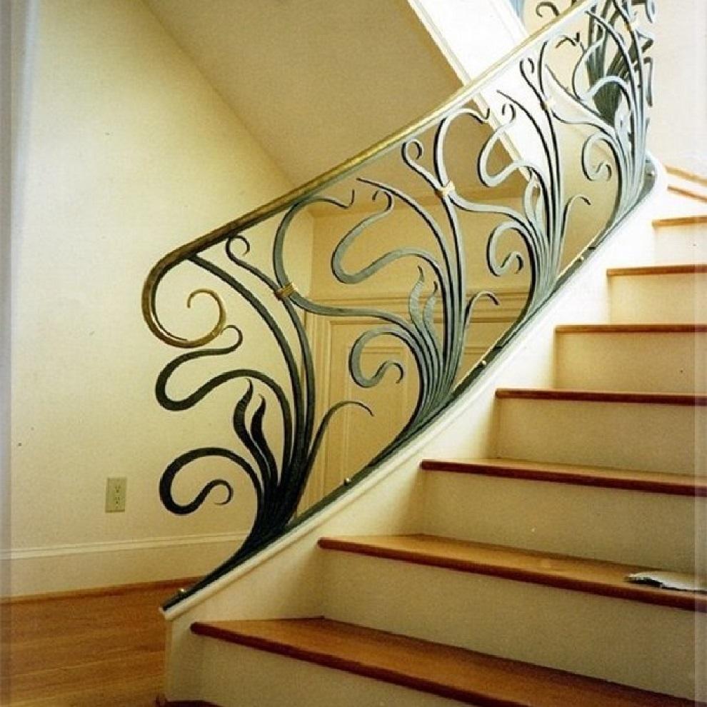 Кованые перила для лестницы Артикул № 004