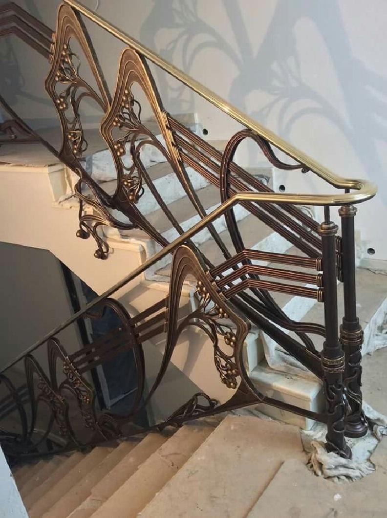 Кованые перила для лестницы Артикул № 008