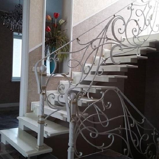 Кованые перила для лестницы Артикул № 009