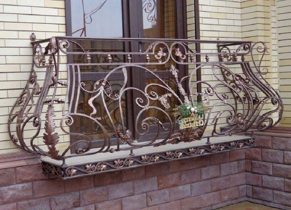 Кованые ограждения балконов Артикул № 037