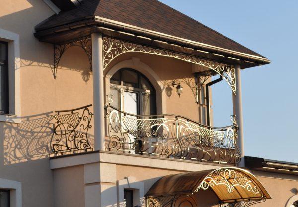 Кованые ограждения балконов Артикул № 041