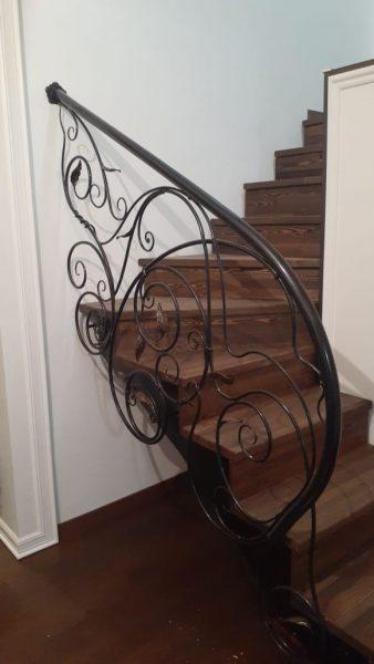 Кованые перила для лестницы с боковым креплением  Артикул № 168