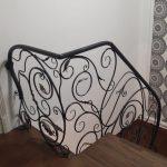 Кованые перила для лестницы с боковым креплением (2)