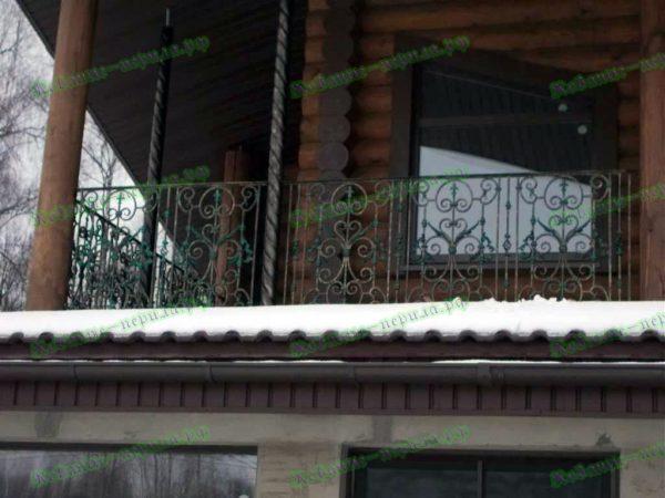 Кованые перила для балкона Артикул № 208