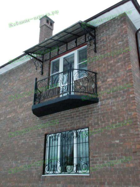 Кованые перила для балкона Артикул № 209
