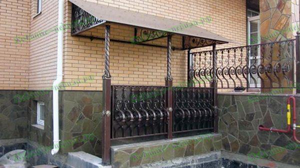 Кованые перила для улицы Артикул № 213