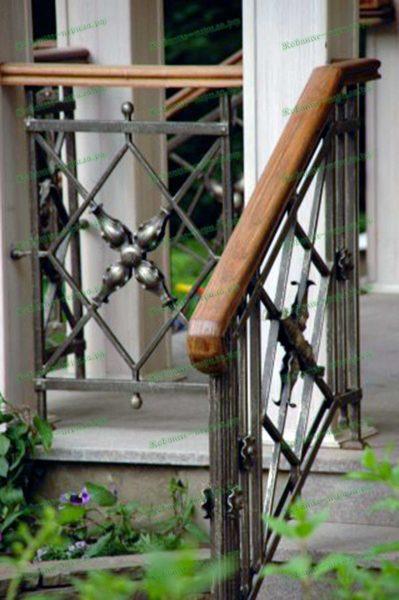 Кованые перила для террасы Артикул № 232