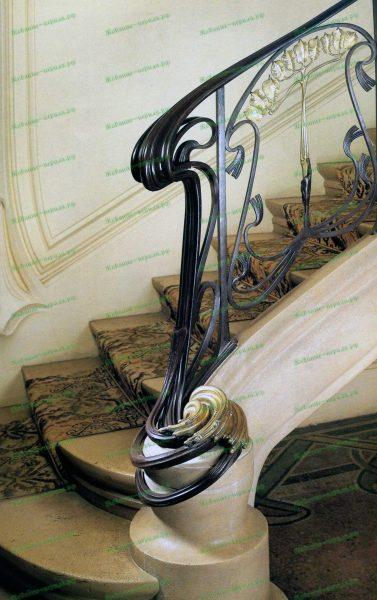 Кованые перила в стиле модерн