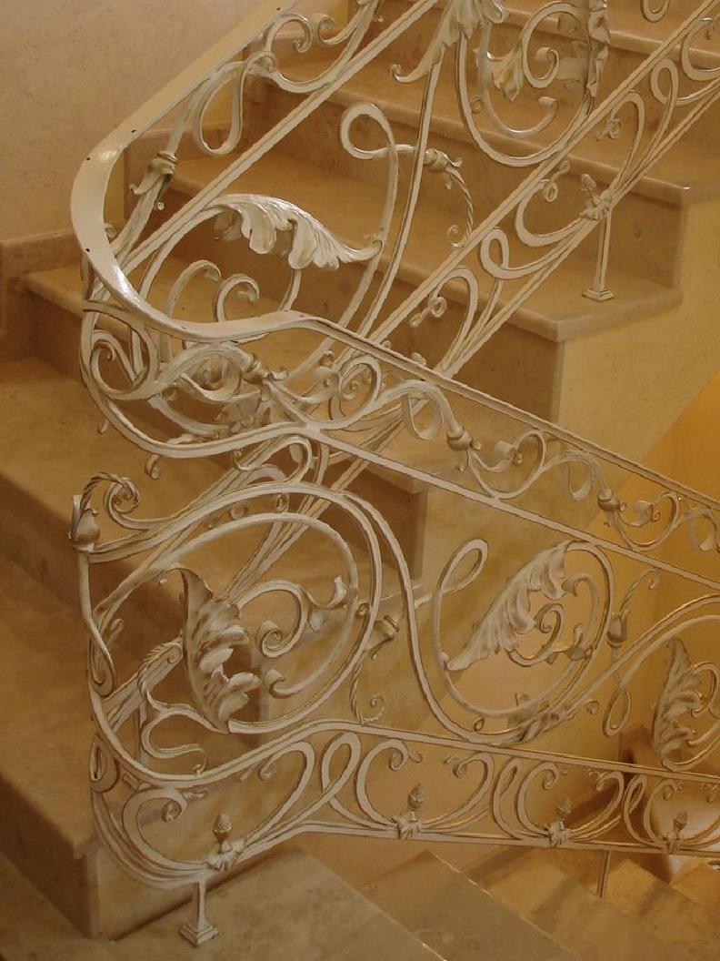 Кованые перила для лестницы Артикул № 012