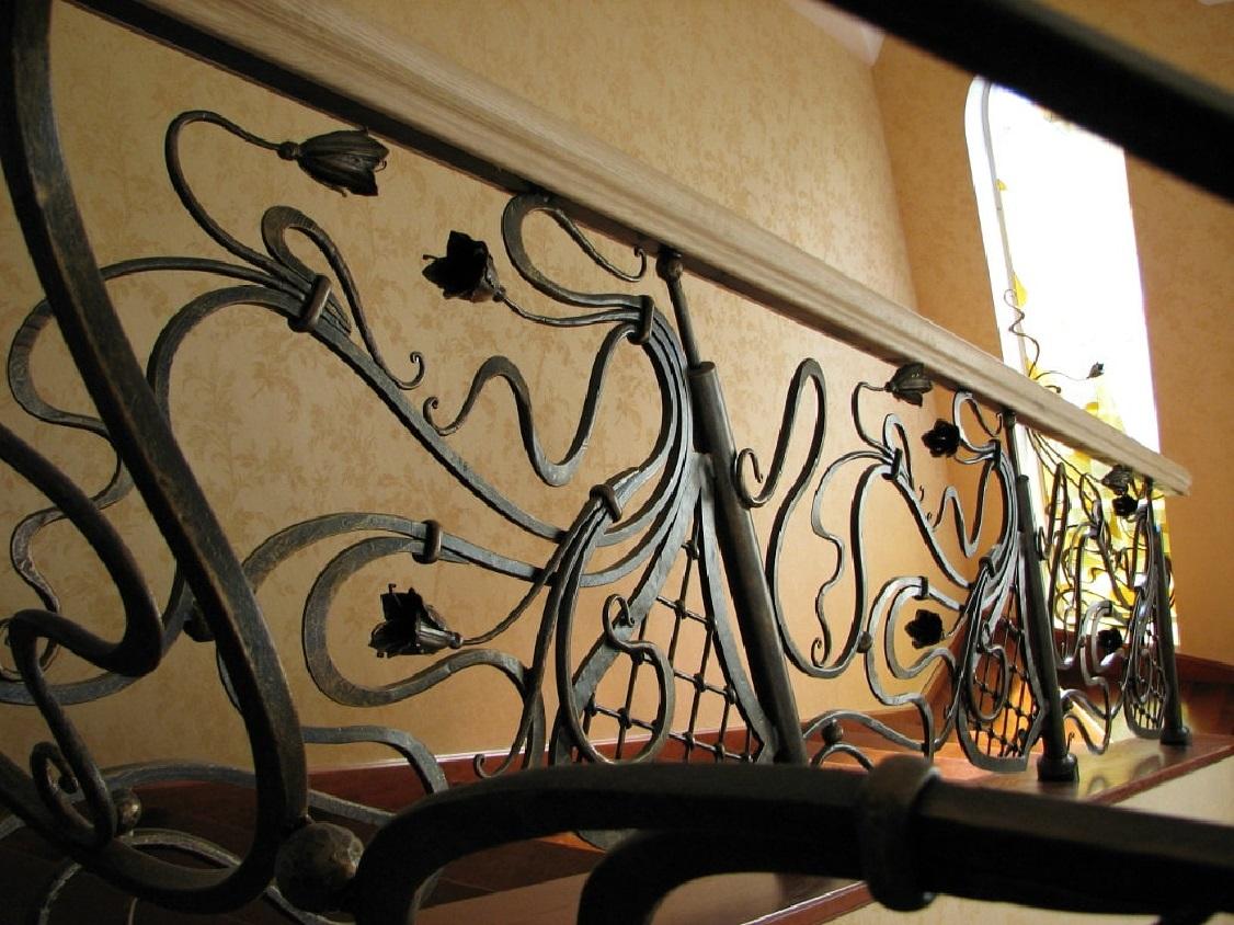 Кованые перила для лестницы Артикул № 015