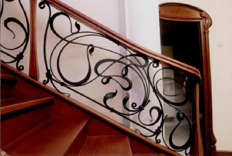 Кованые перила для лестницы Артикул № 006