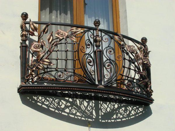 Кованые ограждения балконов Артикул № 043