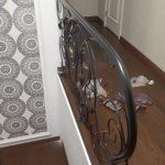 Кованые перила для лестницы с боковым креплением (5)