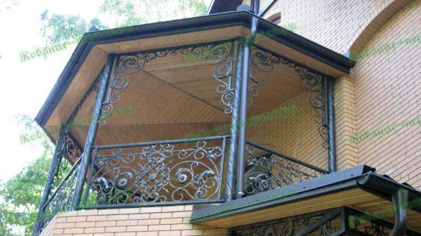 Кованые перила для балкона Артикул № 215