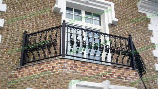 Кованые перила для балкона Артикул № 210